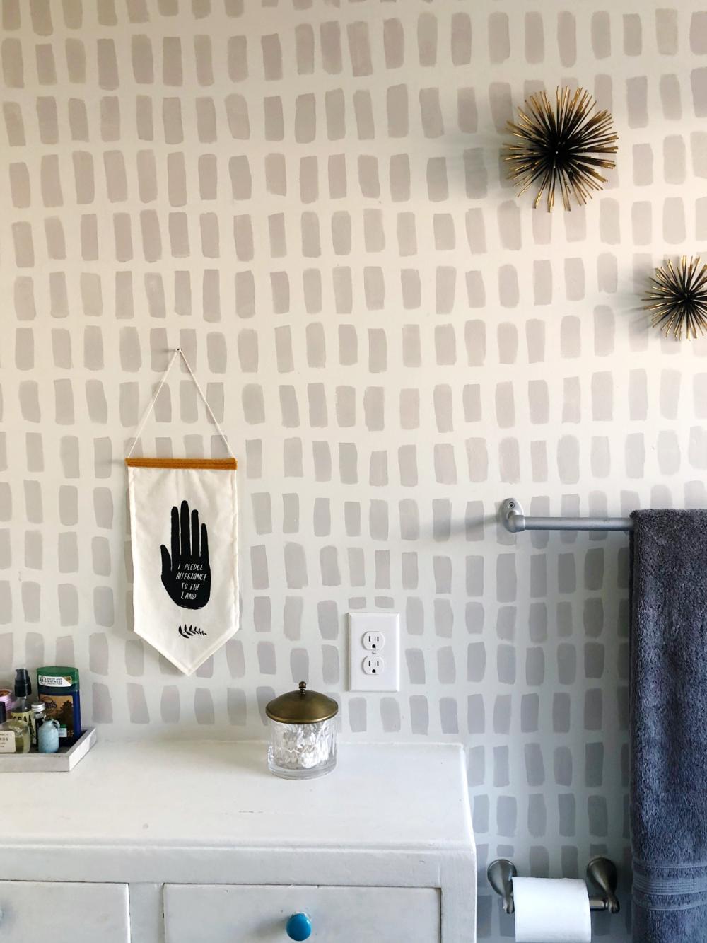Handpainted, Brush Stroke Wallpaper DIY in 2020 Diy