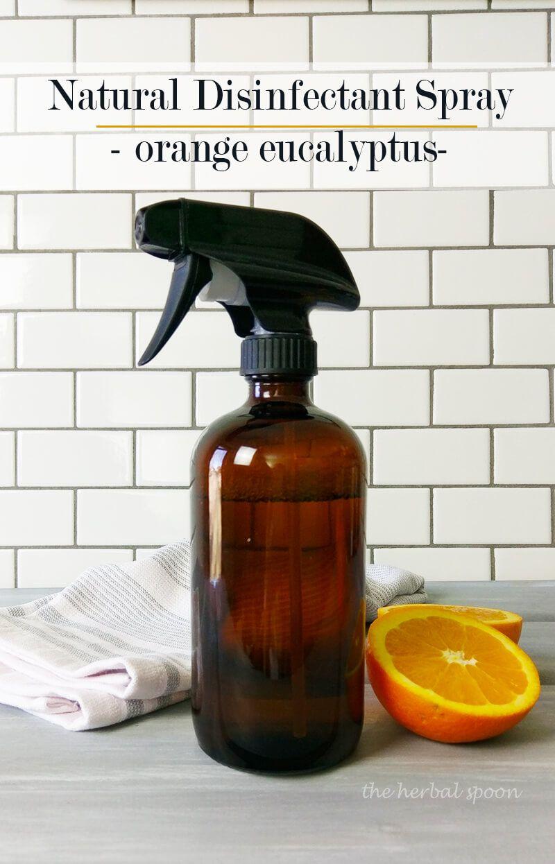 Natural Homemade Orange Eucalyptus Disinfectant Spray Like Lysol