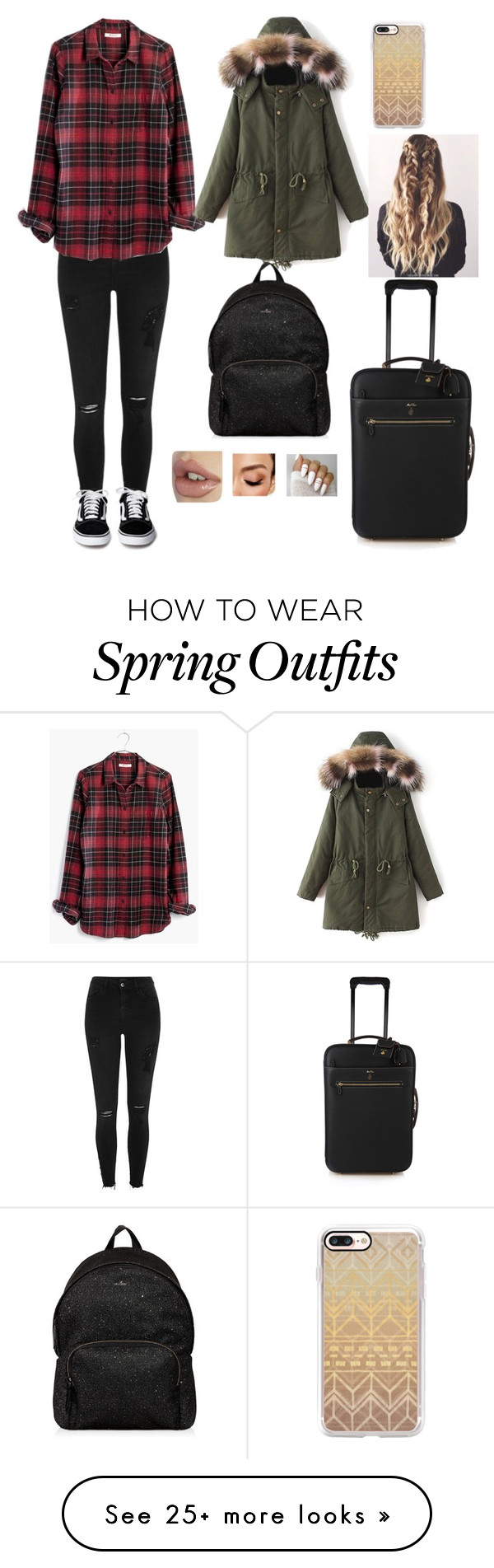 """""""Random Outfit #42"""" by x1dlover4everx on Polyvore featuring River Island, Madewell, Hogan, Avon, Casetify and Mark Cross"""