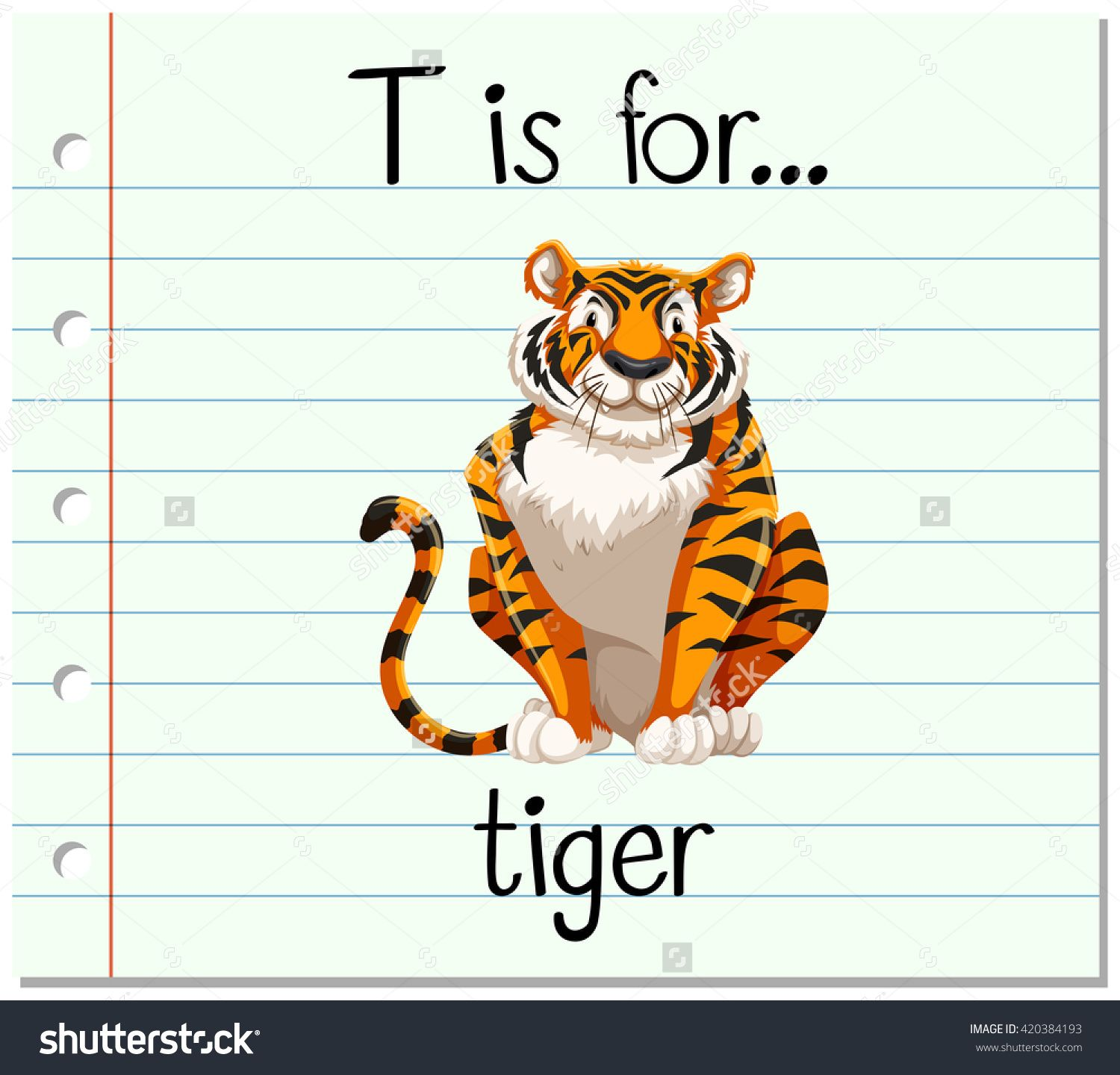 T Is For Tiger Alphabet For Kids