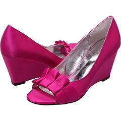 Caitlin Sateia These Do Come In Navy Too Hot Pink Wedges