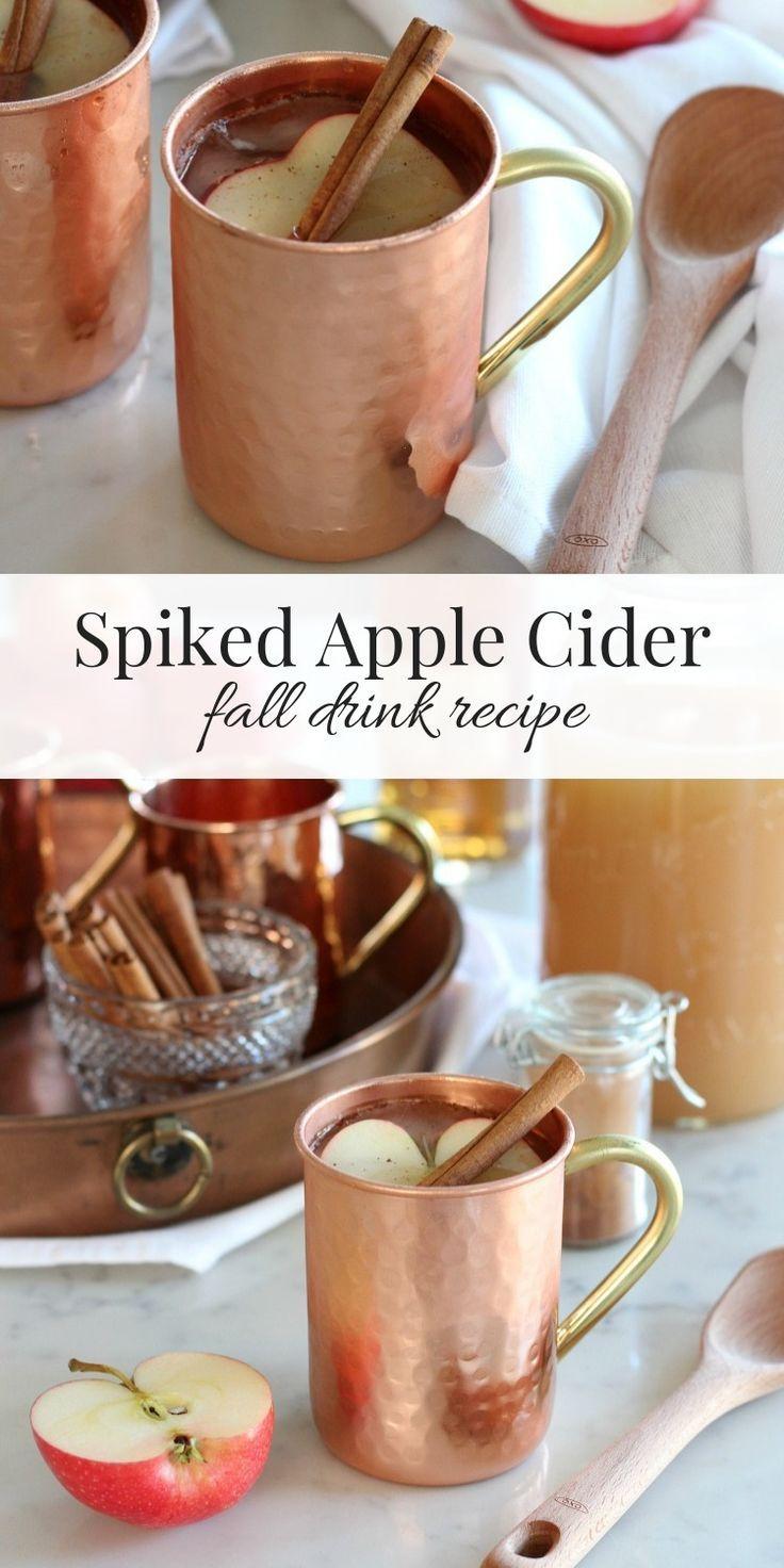 Spiked Apple Cider Fall Drink Recipe - Satori Design for Living