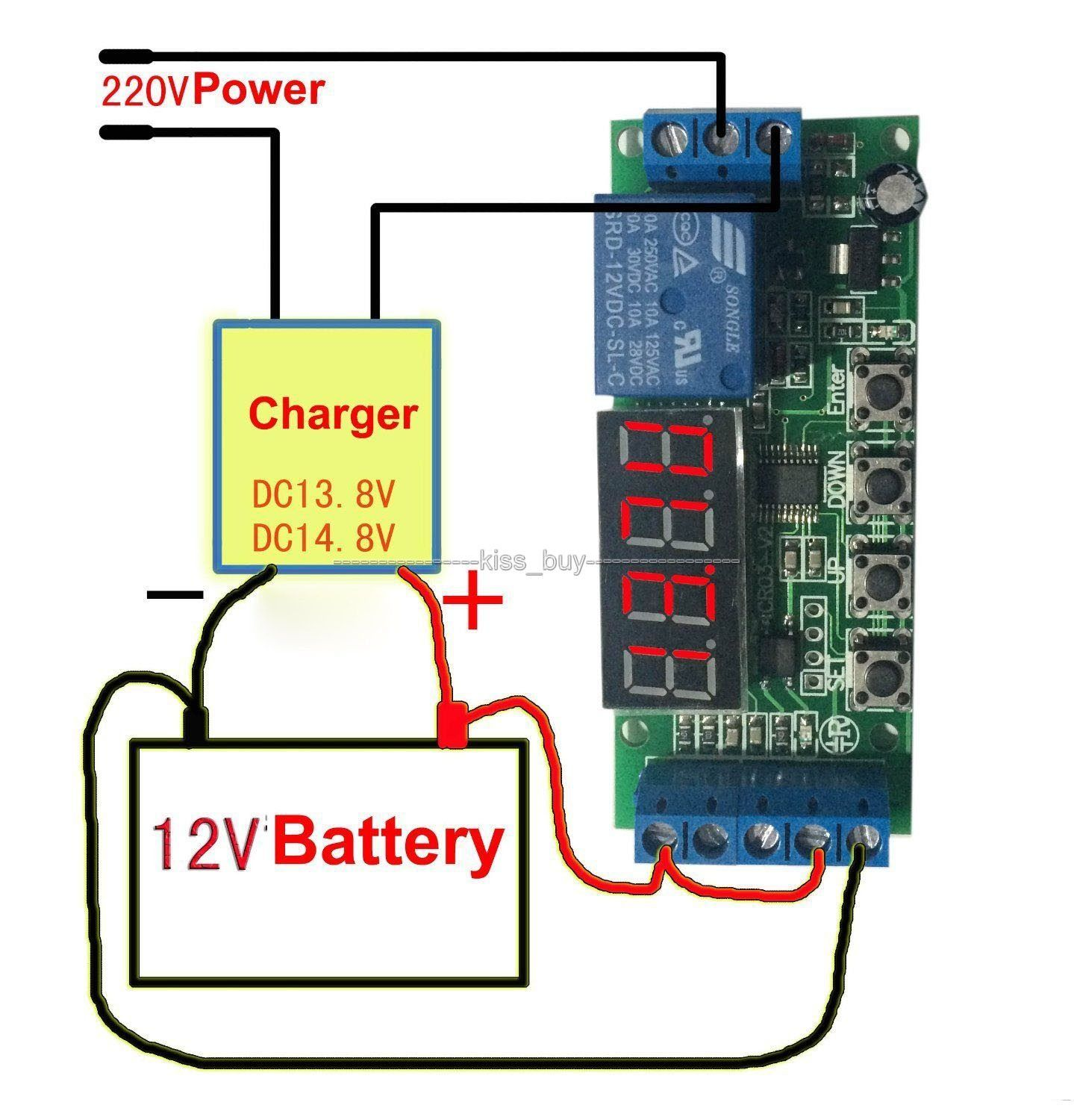 Dc 12v Automatic Battery Charger Charging Controller Protection Board Led Display Digital For Car Automatic Battery Charger Charger Battery Charger