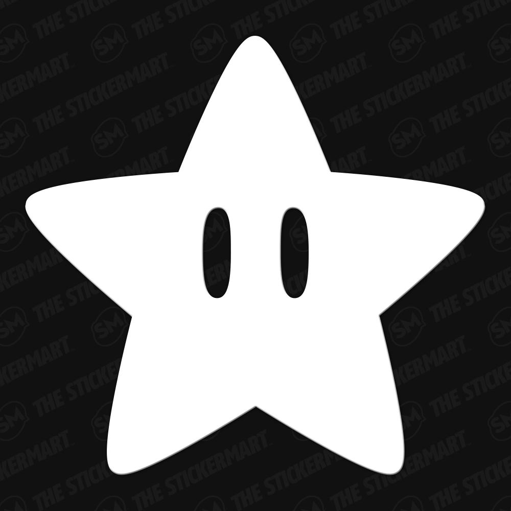 Mario Star Eyes 3 Vinyl Decal Mario Star Vinyl Decals Star Eyes