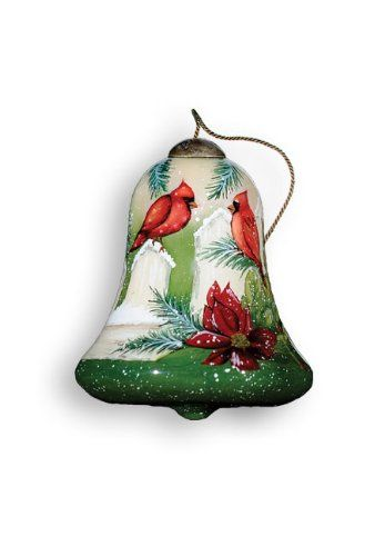 """Ne'Qwa Ornament """"Cardinals"""", 3-Inches Tall, Bell Design, Designed by noted artist Susan Winget Ne'Qwa http://www.amazon.com/dp/B003OBY4S6/ref=cm_sw_r_pi_dp_9OV4vb016S5Y9"""