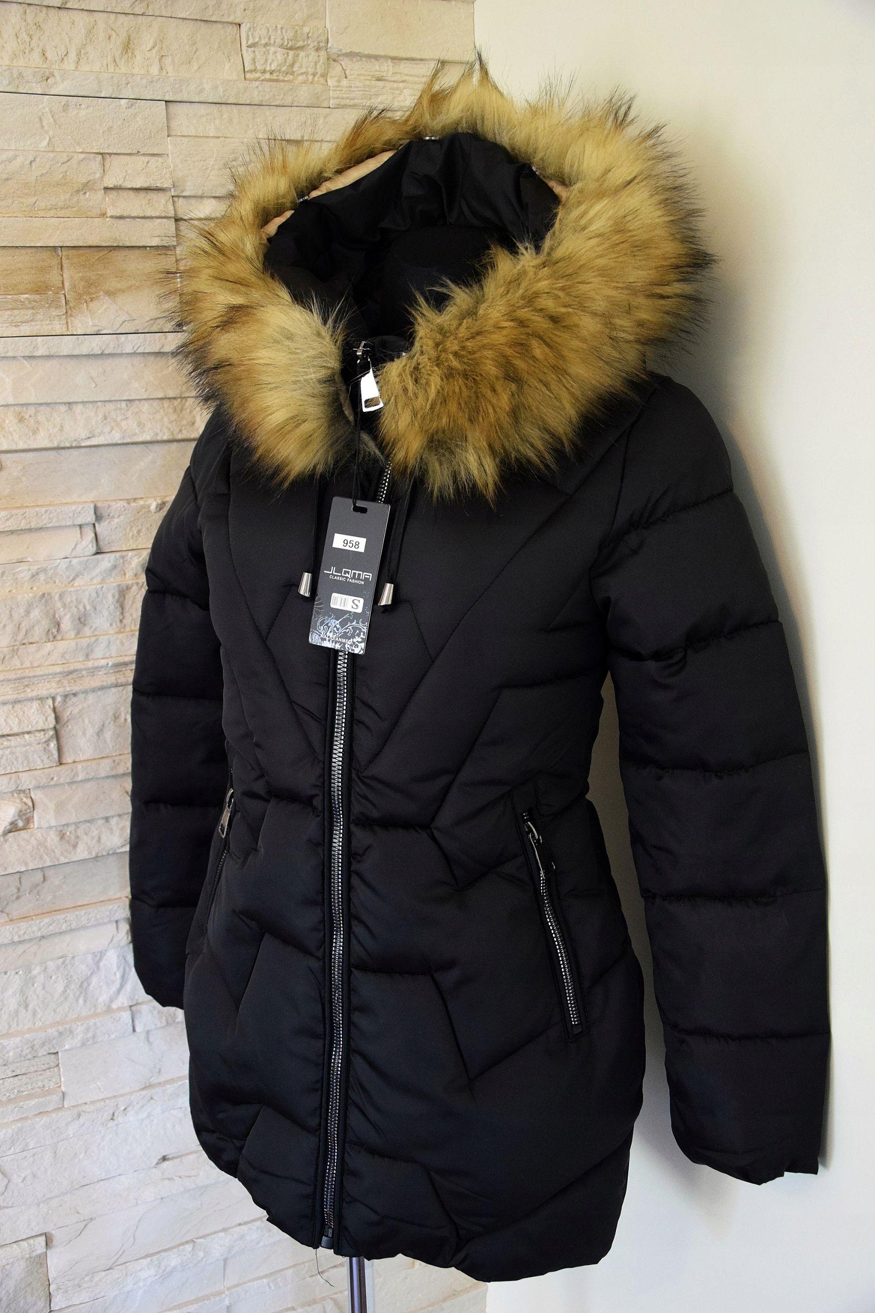 Zimowa Kurtka Pikowana Czarna Kaptur No R 4xl 8657611678 Allegro Pl Winter Jackets Jackets Fashion