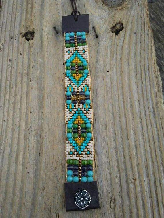 Bead loom bracelet, bead woven bracelet, Native American, equestrian, Western Pleasure, horsemanship, Showmanship, western riding / reining