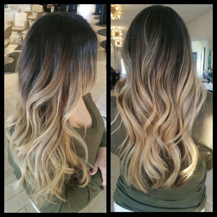 Dark Brown Rooted Balayage Balayage Hair Blonde Hair With Brown