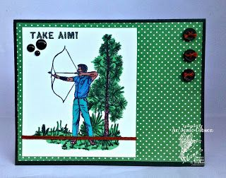 "Mark's Finest Papers December Blog Hop: Featuring ""Bow Hunting"" stamp set.  #mfp  #mancard #naturecard #marksfinestpapers"