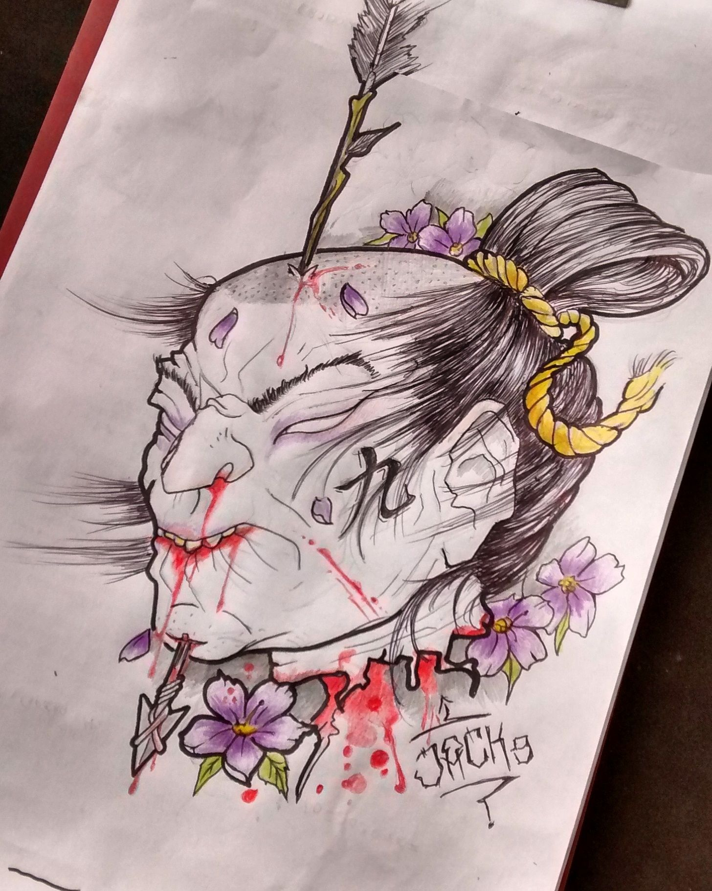 namakubi tattoo design samur i behead oriental japanese tattoo design my work pinterest. Black Bedroom Furniture Sets. Home Design Ideas