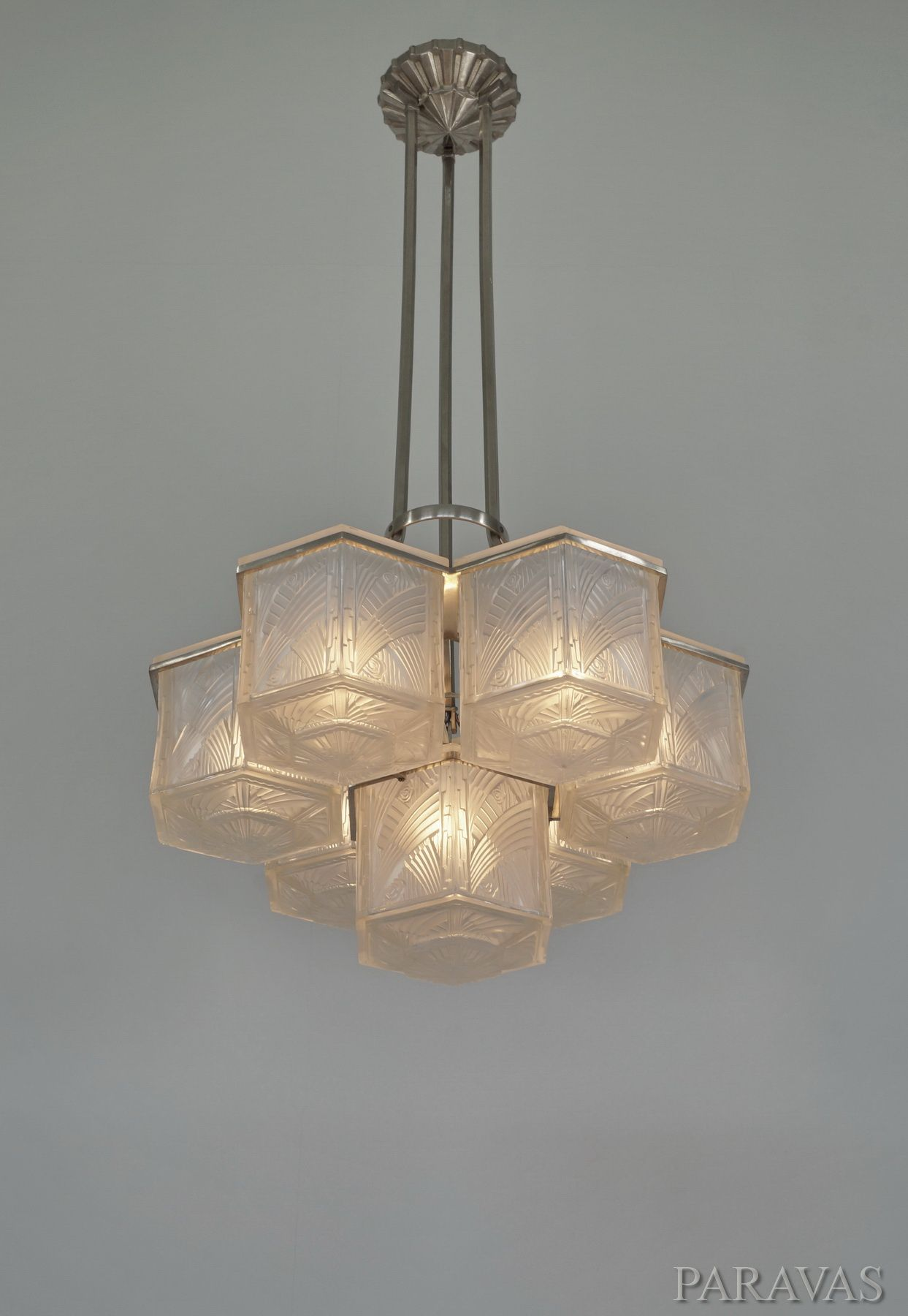 A large and very rare 1930 Hettier et Vincent chandelier paravas – Chandeliers on Ebay