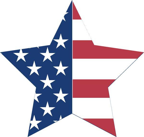us star flag bunting decoration free patriotic printable clipart rh pinterest com Patriotic Border Clip Art Patriotic Angel Clip Art