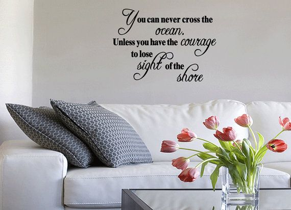 You Can Never Cross The Ocean Vinyl Wall Quote Decal Nr Stickers Home Words