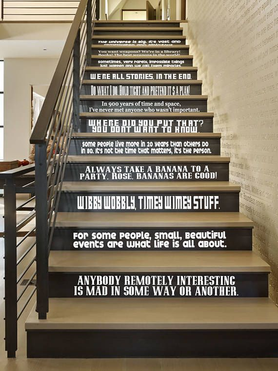 Doctor Who Inspired Quote Vinyl Wall Decal Large Set Stair Decals Letter Wall Decor Wall Decor Stickers