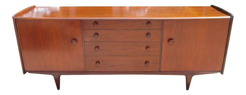 Younger Mid Century 1960 S Long Low Solid Afromosia Teak Sideboard Credenza Teak Sideboard Credenza Sideboard Sideboard