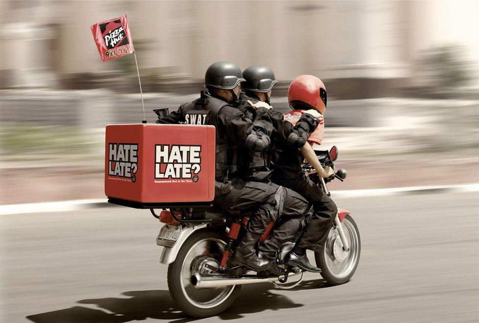 Pizza Hut Livraison Swat Creative Pizza Clever Advertising Pizza Hut Delivery