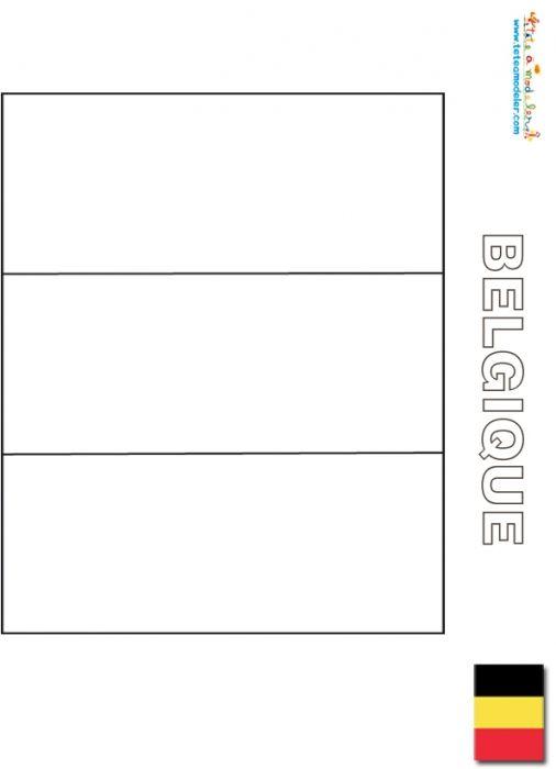 drapeau de la belgique colorier tte modeler - Drapeau Espagnol A Imprimer