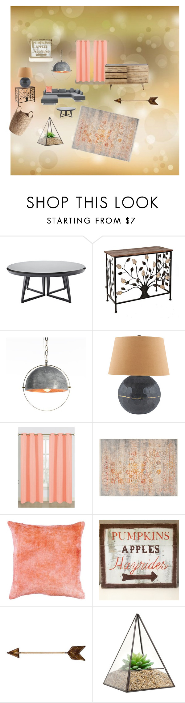 """Soft Start of Fall"" by gena-june on Polyvore featuring interior, interiors, interior design, home, home decor, interior decorating, Serena & Lily, West Elm, Lazy Susan and Safavieh"