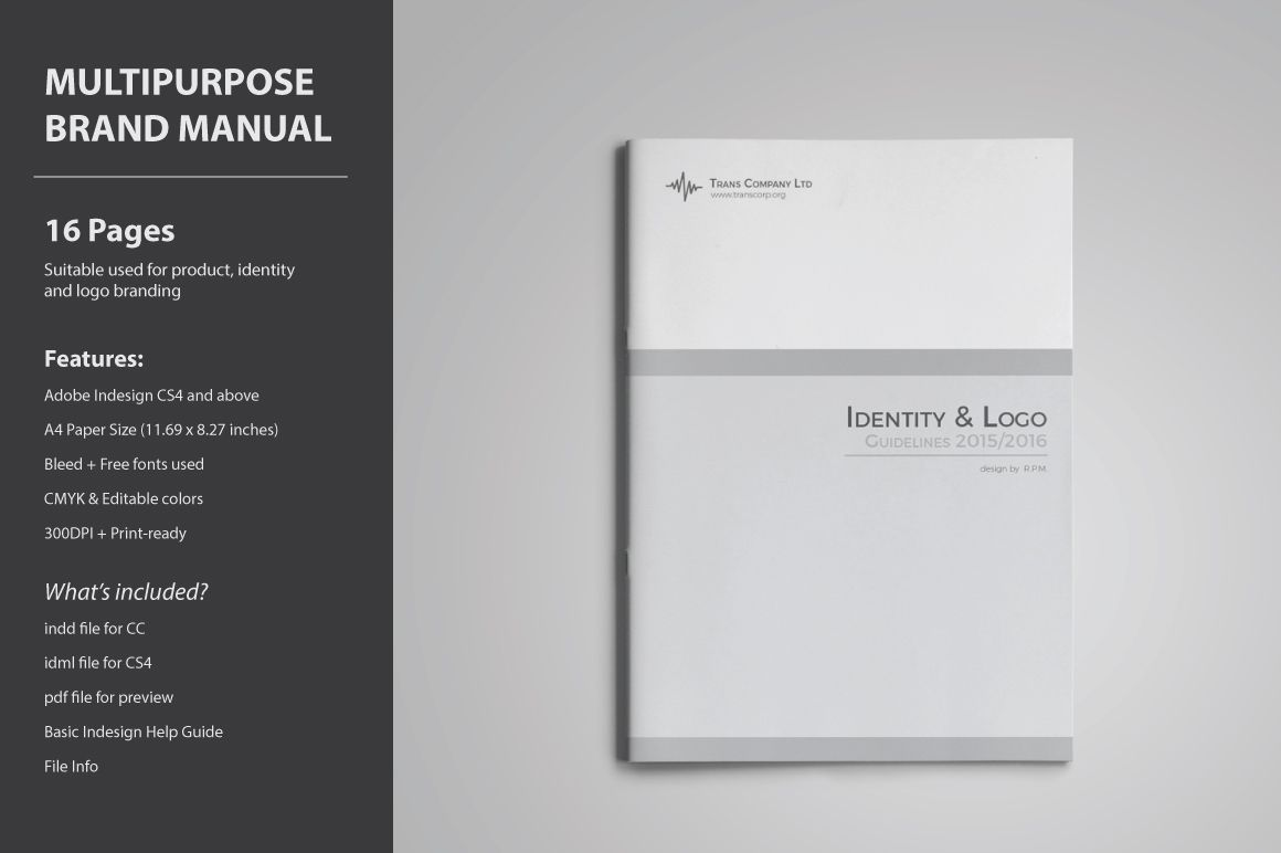 Brand Guidelines Template by voryu on Creative Market | Process ...
