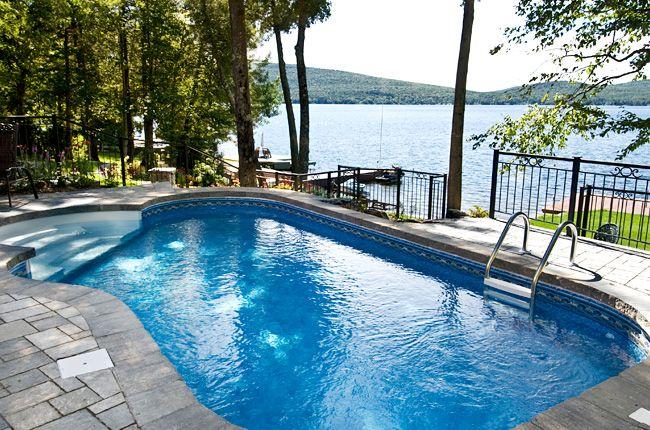 piscine creus e avec chute recherche google piscine pinterest pool designs outdoor
