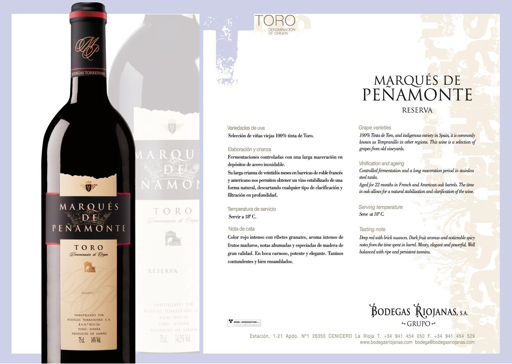 Marques De Penamonte Reserva Penamonte D O Toro Wine Toros