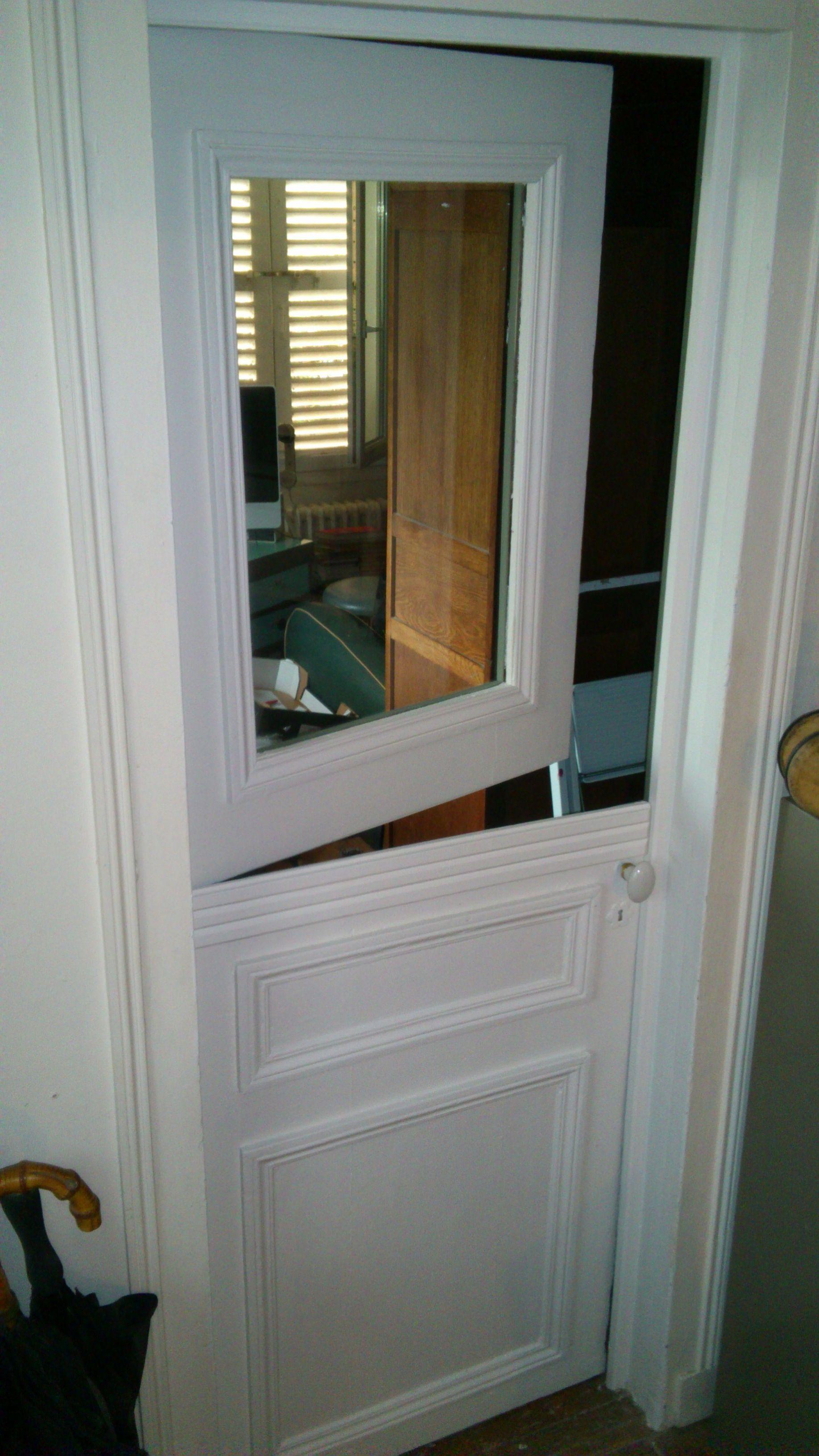 Porte fermière à partir d une vieille  porte  Lionel daviault