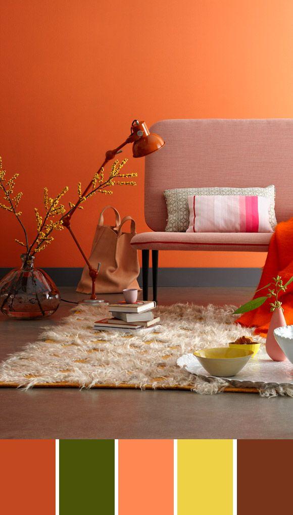 paleta naranja www.casasdepelicula.blogspot.com | Pantoneras ...