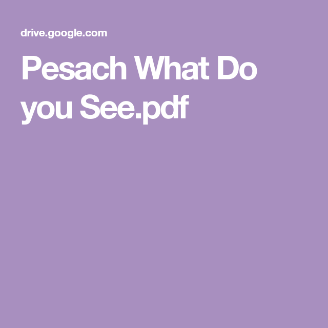 Pesach What Do you See.pdf