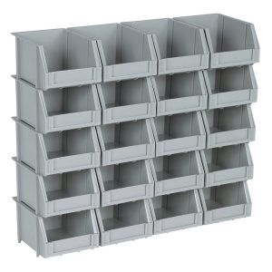 Wall Mounted Storage Bins With Lids