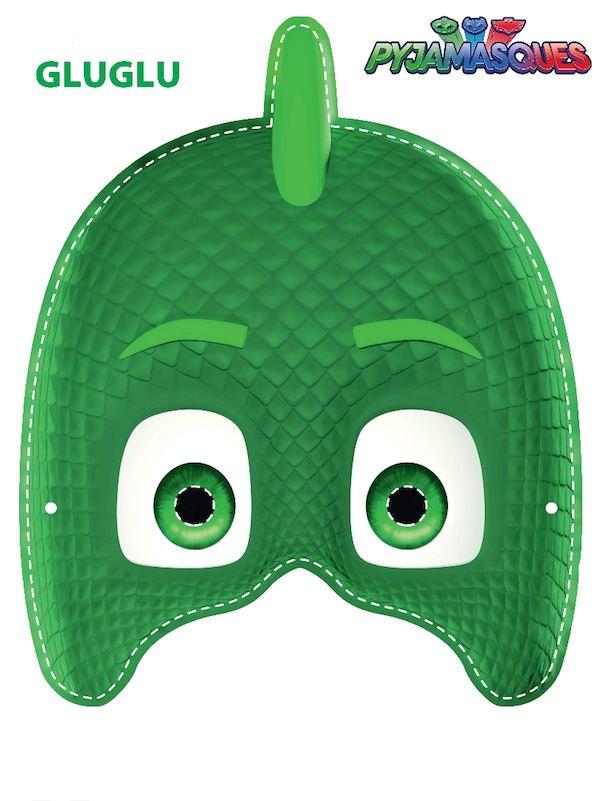 Masque les pyjamasques gluglu noam pinterest - Masque de super heros a imprimer ...