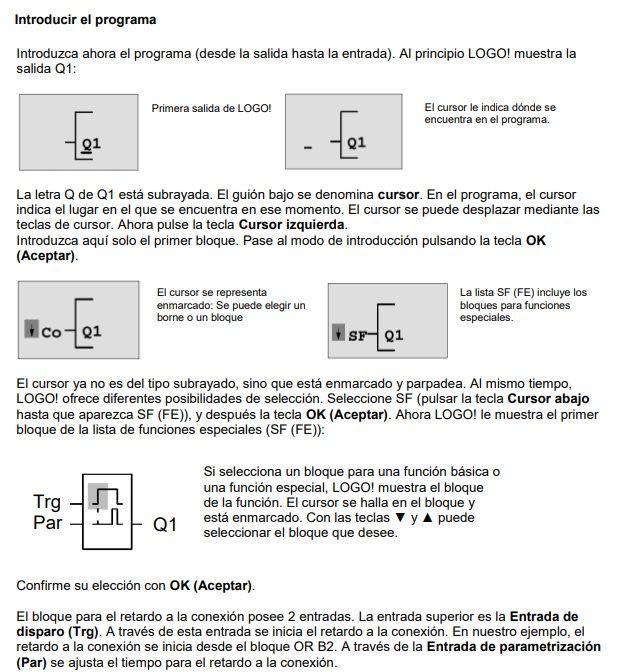 PLC LOGO de Siemens Teoria y Practicas Diagrama de