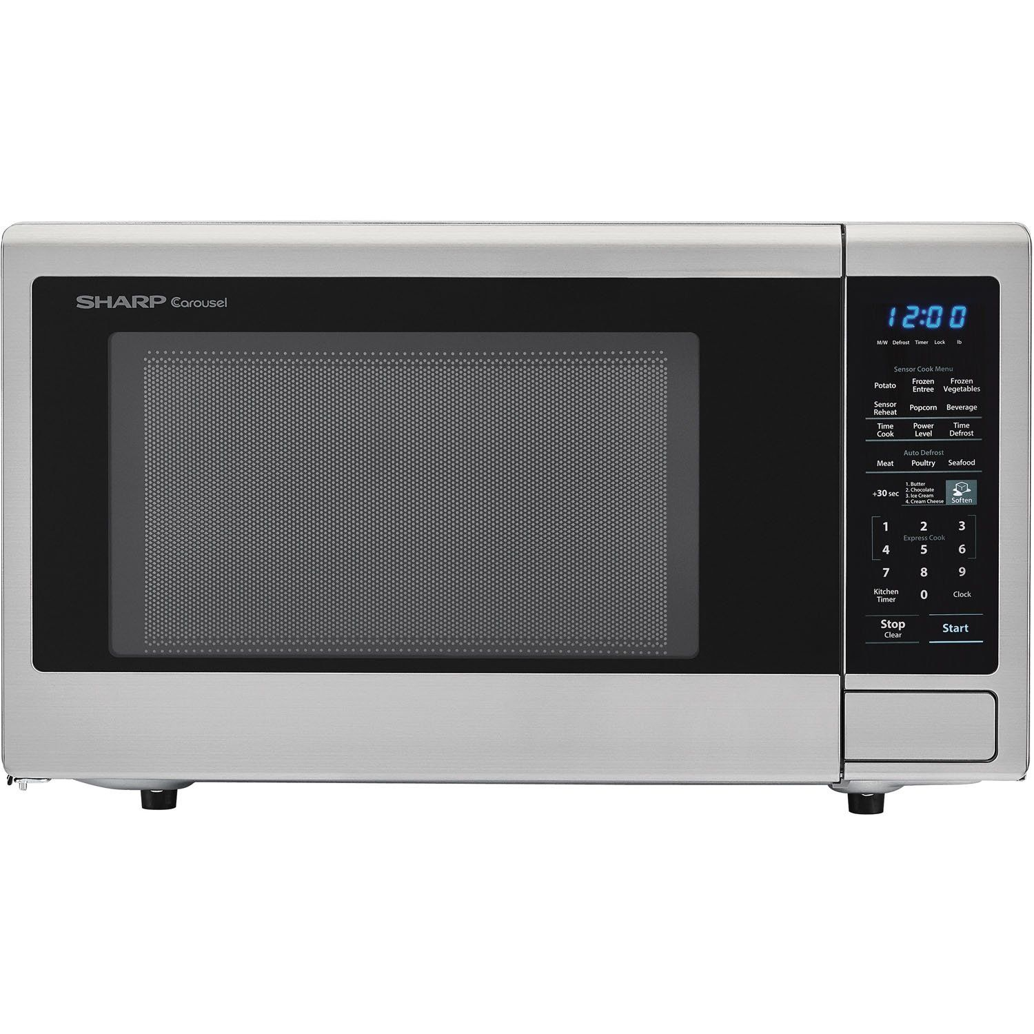 Sharp Carousel 1 8 Cu Ft 1100w Countertop Microwave Oven In