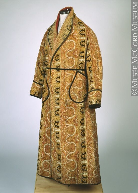 Man\'s Dressing Gown - 1880 - The McCord Museum | 1880s FASHIONS ...