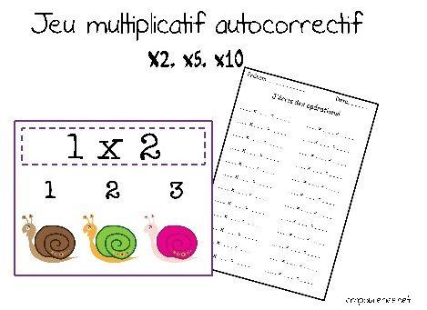 Jeu autocorrectif ce1 multiplications x2 x5 x10 fait multiplication pinterest - Jeu table de multiplication ce1 ...