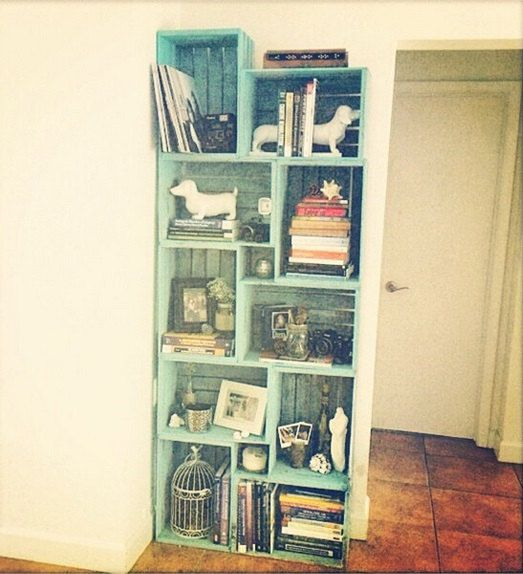 Wine Boxes Rustic Bookcase Hey I Found This Really Awesome Etsy Listing At