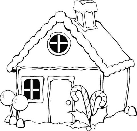 Christmas Gingerbread House Coloring Page From Christmas Gingerbread Category Sel Christmas Coloring Pages Free Christmas Coloring Pages House Colouring Pages