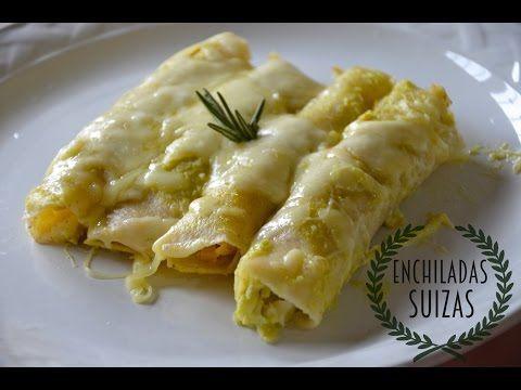 Deliciosas Enchiladas Suizas (receta facilisima) - YouTube