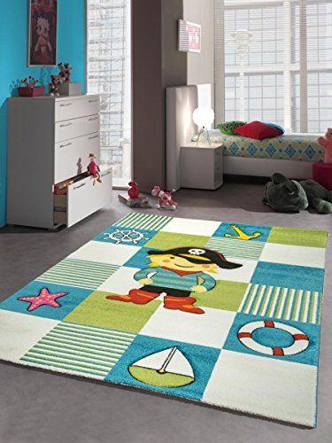 Große Kinderteppiche kinderteppich spielteppich kinderzimmer teppich pirat design mit
