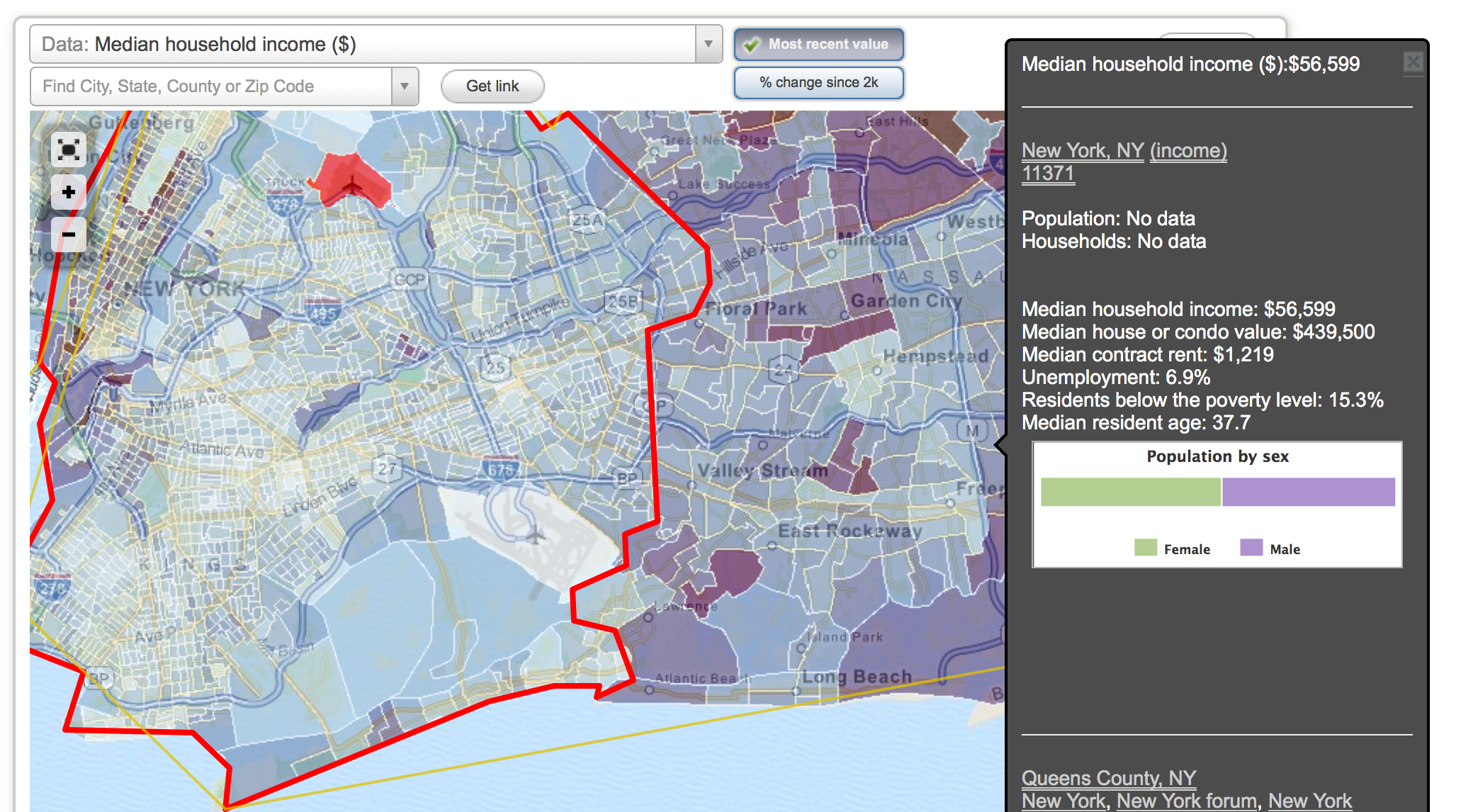 Data om map of NYC httpwwwcity datacom Data