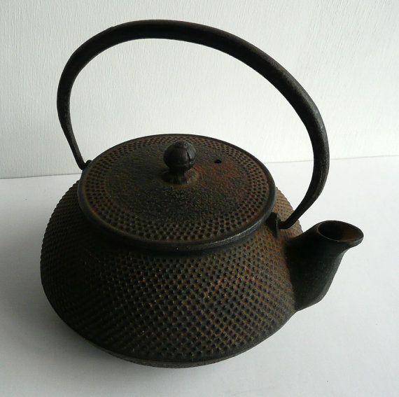 Iron Teapot Vintage Japanese Cast Iron Nanbu By Whatsforpudding