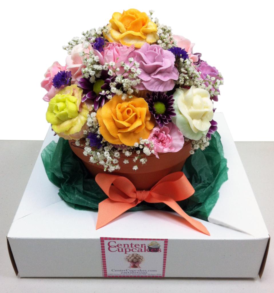 Cupcake Flower Pot Bouquet | wedding | Pinterest | Cupcake flower ...
