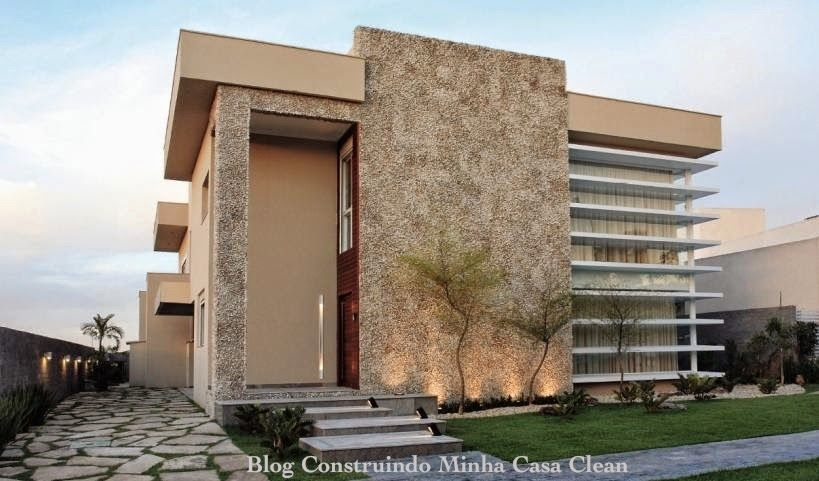 Fachadas de Casas com Garagem! Fachadas, Fachadas modernas y Persianas - fachadas contemporaneas