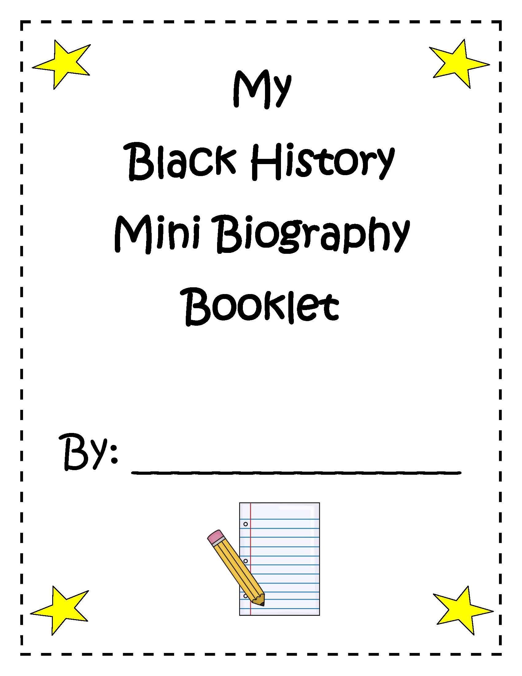 Social Stu S My Black History Mini Biography Booklet