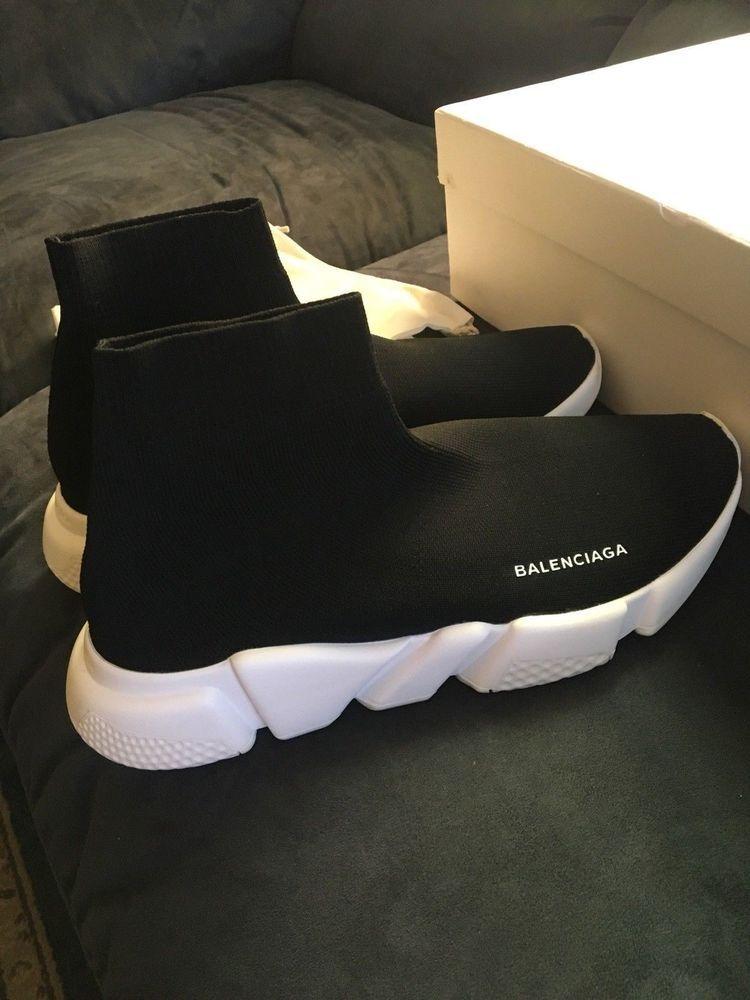 white Balenciaga speed trainers OG size