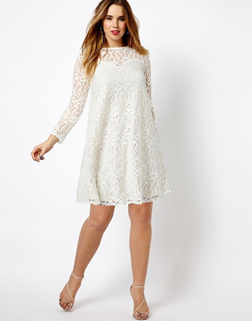 ASOS CURVE - Swing Dress In Baroque Lace | All \'bout style ...