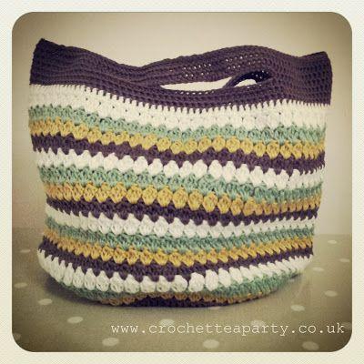 Cluster Stitch Bag at Crochet Tea Party | crochet | Pinterest ...