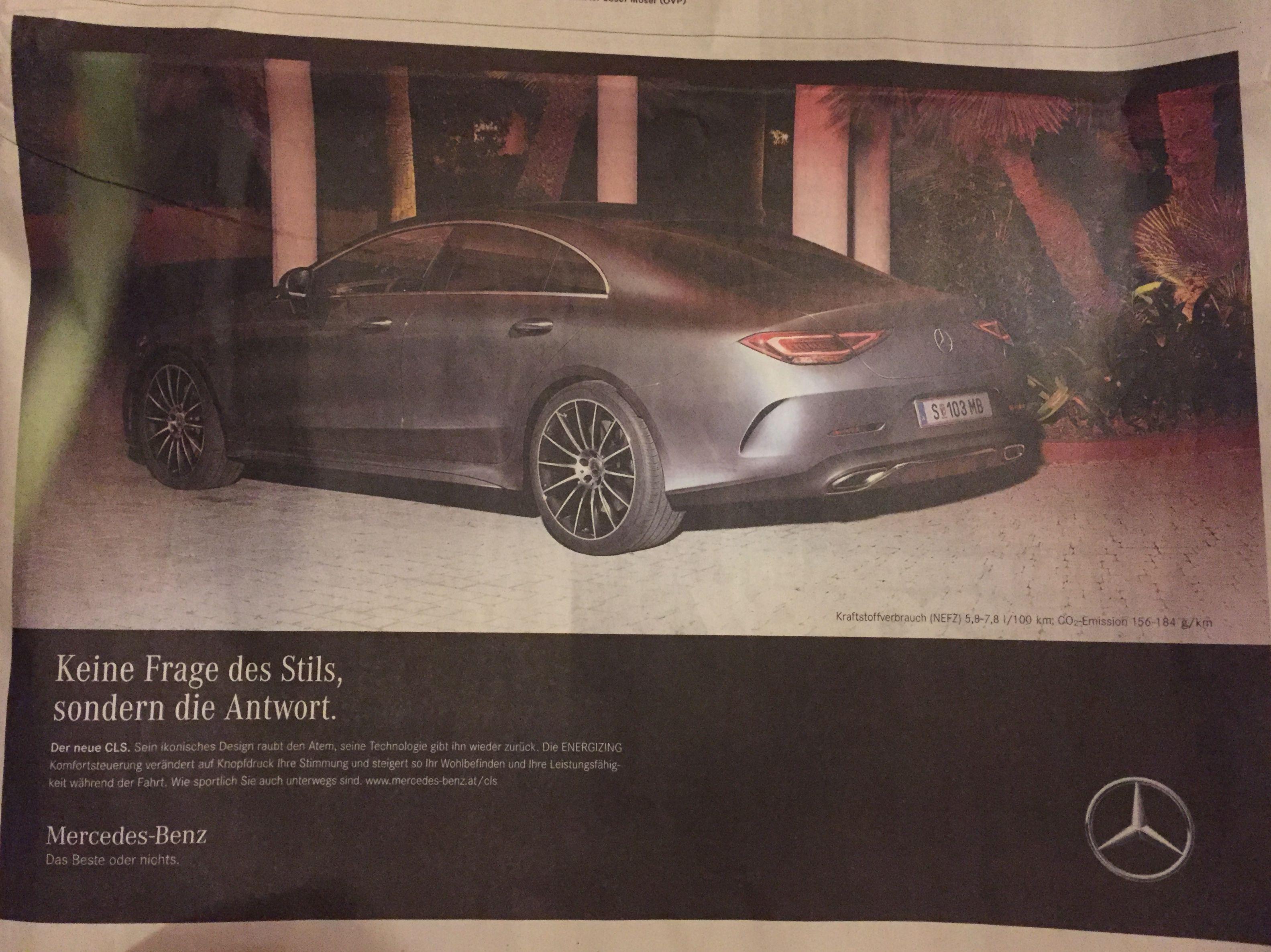 Mercedes Das Beste Oder Nichts Inserat Werbung Anzeige Text Werbung Mercedes