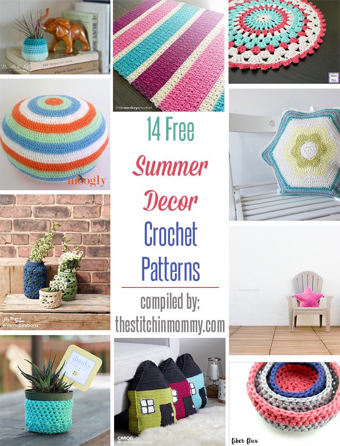 14 Free Summer Decor Crochet Patterns | Decoración