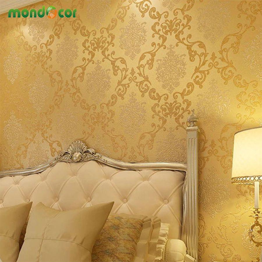 Mondecor Non Woven Wallpaper Damask European Vintage Wallpaper Wall ...