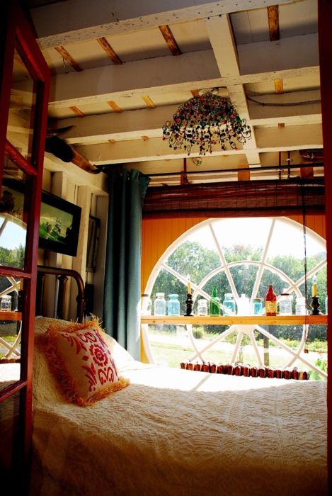 bed by the window